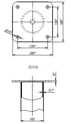 flanec kvadrat
